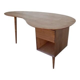 Mid-Century Boomerang Walnut Desk