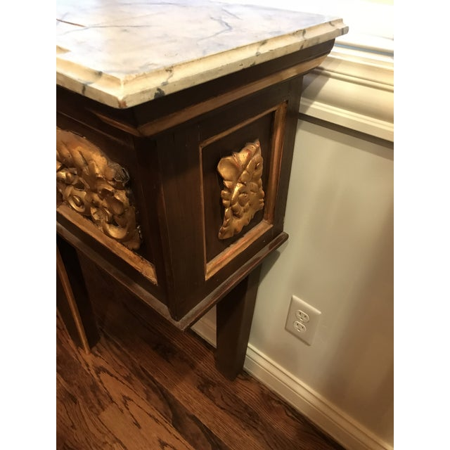 Metal Antique Narrow Neoclassical Italian Console Table For Sale - Image 7 of 12