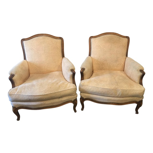 Louis XV Style Bergeres - a Pair For Sale