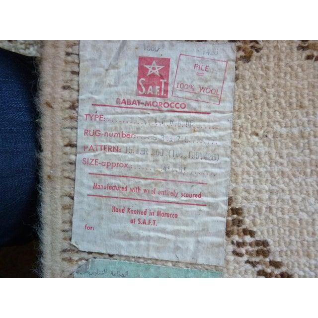 Vintage Handmade Moroccan Rug - Image 6 of 9