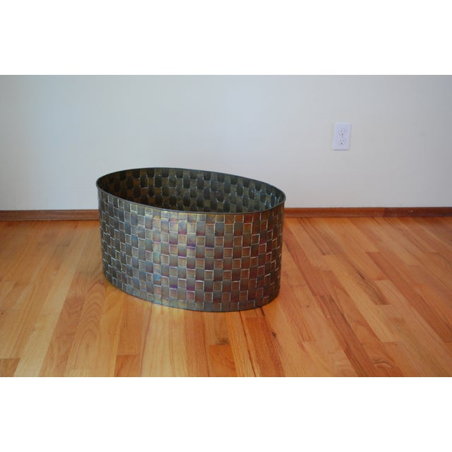 Extra Large Brass Planter by Chapman - Image 7 of 11