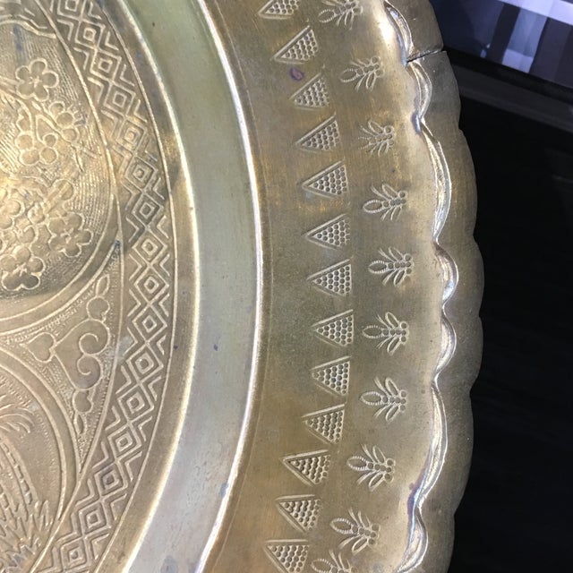 Vintage Brass Tray With Animal Scene - Image 5 of 6