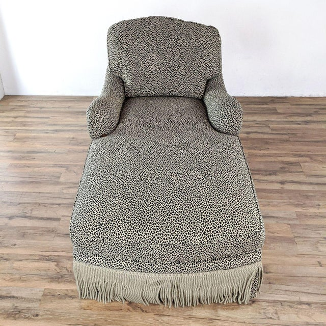 Skirted upholstery with fringe. Brand is Jessica Charles. Original Price $1,800.00. Dimensions (in): 34.0 W x 54.0 D x...