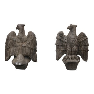 Vintage 1970's Concrete Eagle Statues For Sale