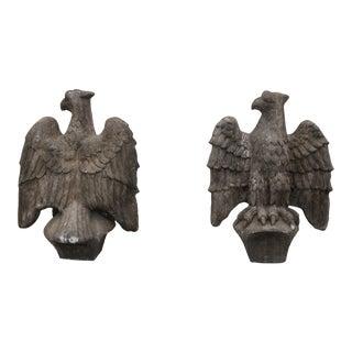 Vintage 1970's Concrete Eagle Statues - a Pair For Sale