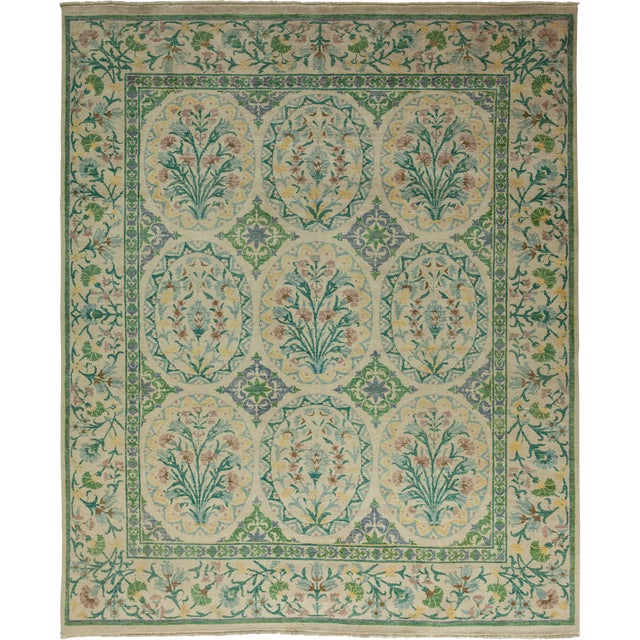 """Suzani Hand Knotted Area Rug - 8'4"""" X 9'10"""" For Sale"""