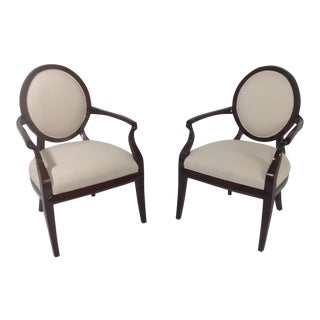 Faux Suede Modern Accent Chairs - A Pair