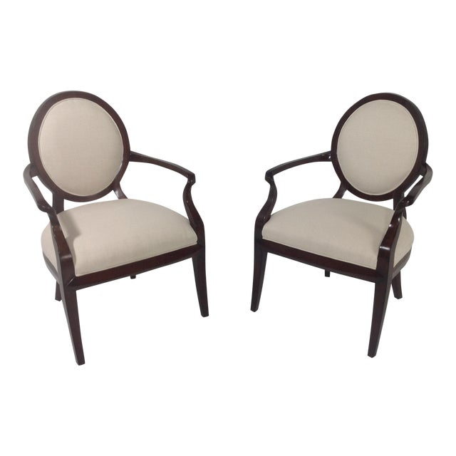 Faux Suede Modern Accent Chairs - A Pair For Sale