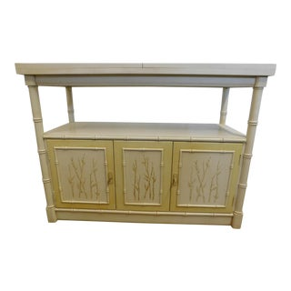 Vintage Thomasville Faux Bamboo Credenza Server