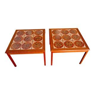 Danish Modern Teak Tile Tables Mobelfabrikken Tofften - a Pair For Sale