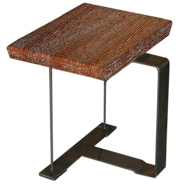 Maple Mid-Century Modern 'Sn3' Wood and Metal Side Table For Sale - Image 7 of 8