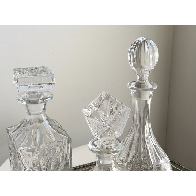 Vintage Silver Tray & Decanters - Set of 4 - Image 5 of 7