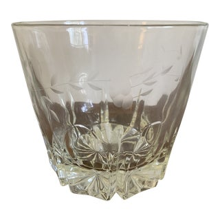 Vintage Etched Crystal Princess House Ice Bucket For Sale