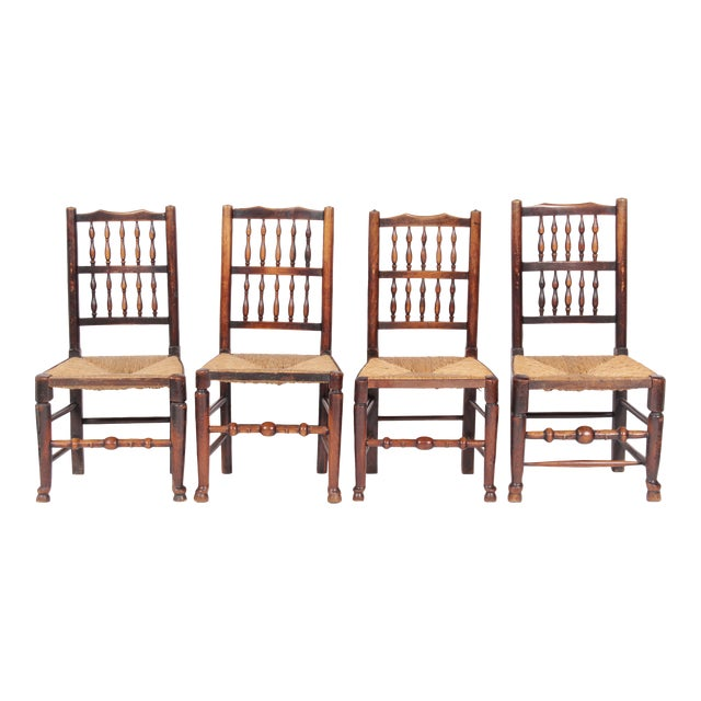 19th-C. Antique English Dining Chairs - Set of 4 - Image 1 of 11