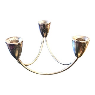 Pair Mid-Century Silver Candlabrum