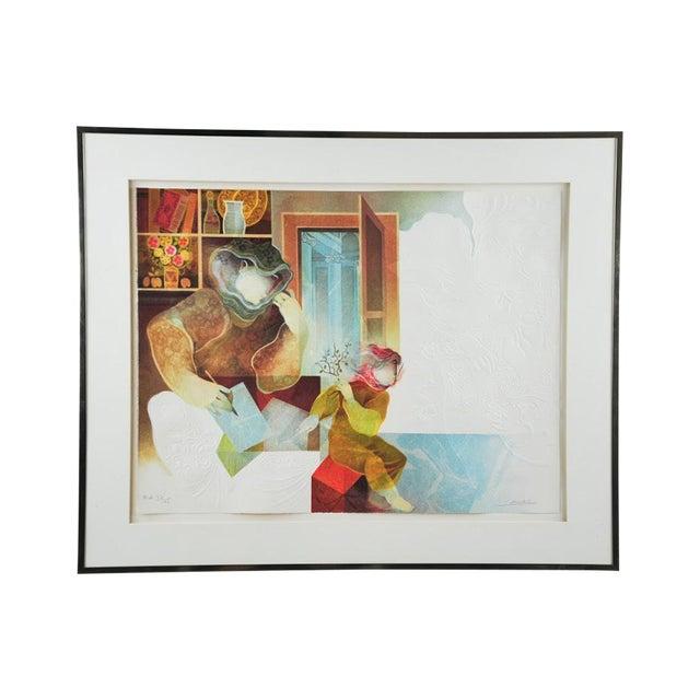 "Original Sunol Alvar Embossed Lithograph ""La Diligence and La Folie"" - Image 1 of 11"