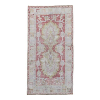 Pink Turkish Scatter Rug, 2'9'' X 4'11'' For Sale