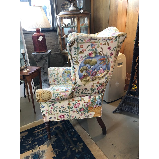 Traditional Early 19th Century Antique William IV English Wingback Armchair For Sale - Image 3 of 10