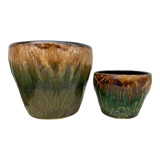 Robinson Ransbottom Pottery Company Pots - a Pair For Sale
