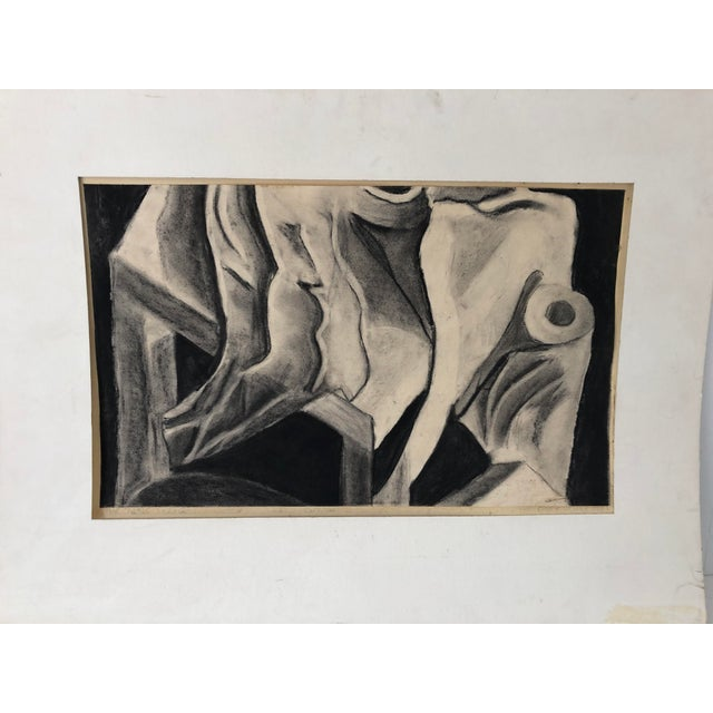 Monochrome Abstract Drawing 22x14 Still Life Signed For Sale In New York - Image 6 of 7