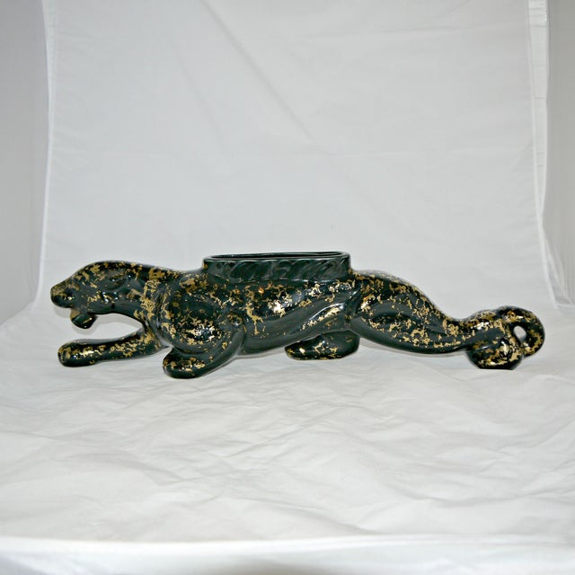 Vintage Mid-Century Ceramic Panther Planter - Image 2 of 8