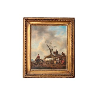 18th Century Landscape / Style of Philips Wouwerman (1619-1668) For Sale