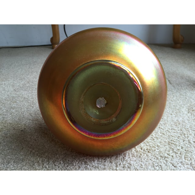 Gold Signed Tiffany Favrile Vase / Decanter For Sale - Image 8 of 9