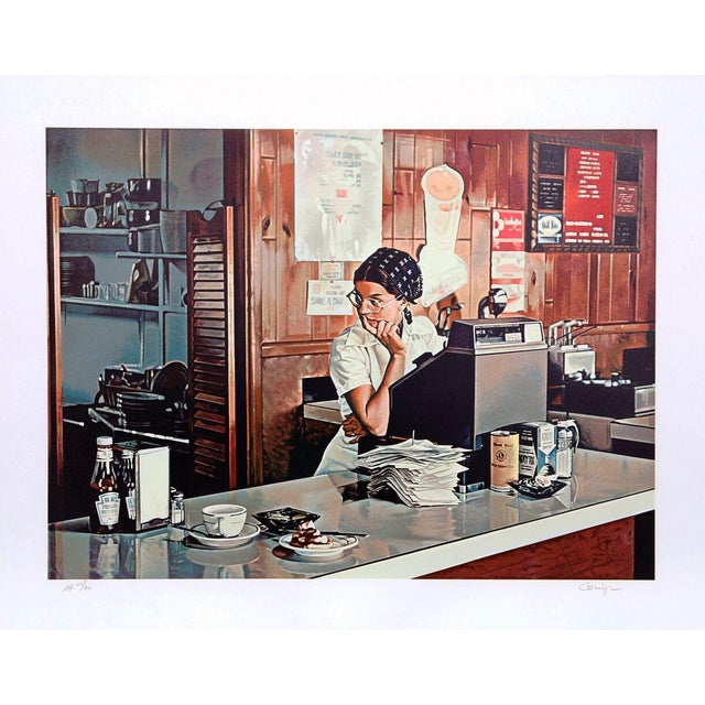 """Ralph Goings, """"One-Eleven Diner,"""" Lithograph - Image 1 of 2"""