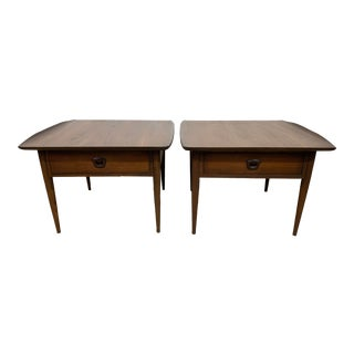 Mid Century Modern Artisan Side Tables by Bassett - a Pair For Sale