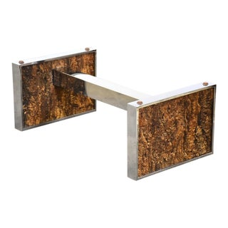 Chrome and Cork Coffee Table Base For Sale
