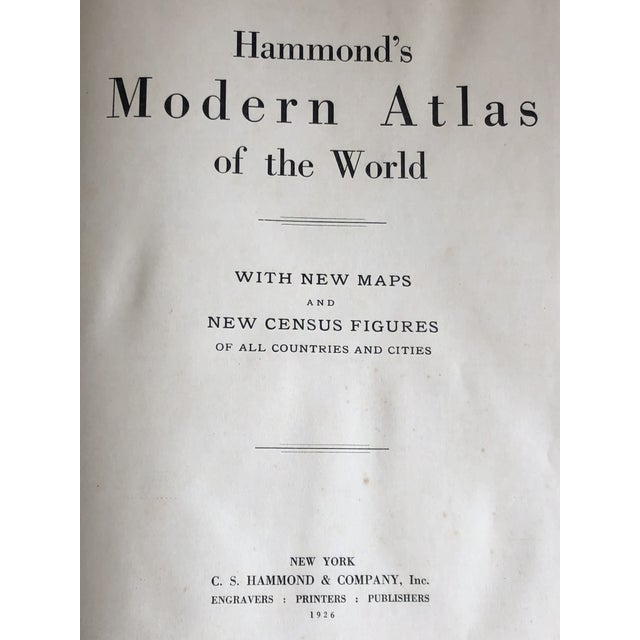 1920s World Atlas With Decorative Cover For Sale In New York - Image 6 of 13
