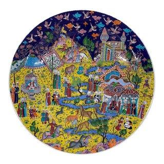 Saim Kolhan Colorful Turkish Ottoman Ceramic Plate For Sale