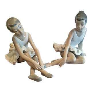 Pair of Spanish Porcelain Ballet Dancers by Nao For Sale