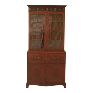 The Federalist Inlaid Mahogany Butler Desk Cabinet