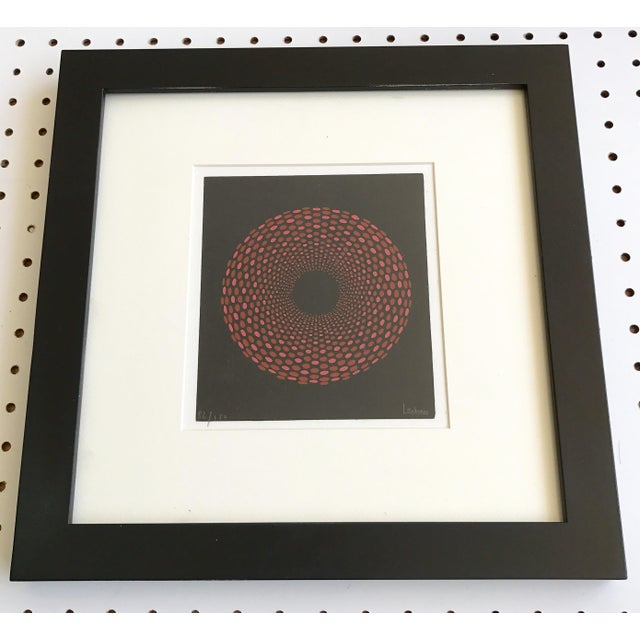 French Geometric Mid-Century Signed Print - Image 6 of 7
