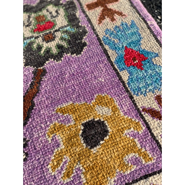 2010s Contemporary Pastel Turkish Oushak Rug - 2′11″ × 9′11″ For Sale - Image 5 of 13