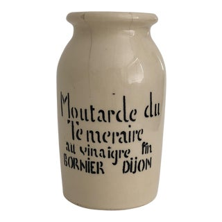 1960s French Mustard Crock
