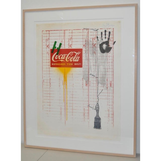 "Circa 1971 ""Coca Cola"" Signed Color Lithograph By Jasper Johns - Image 2 of 9"