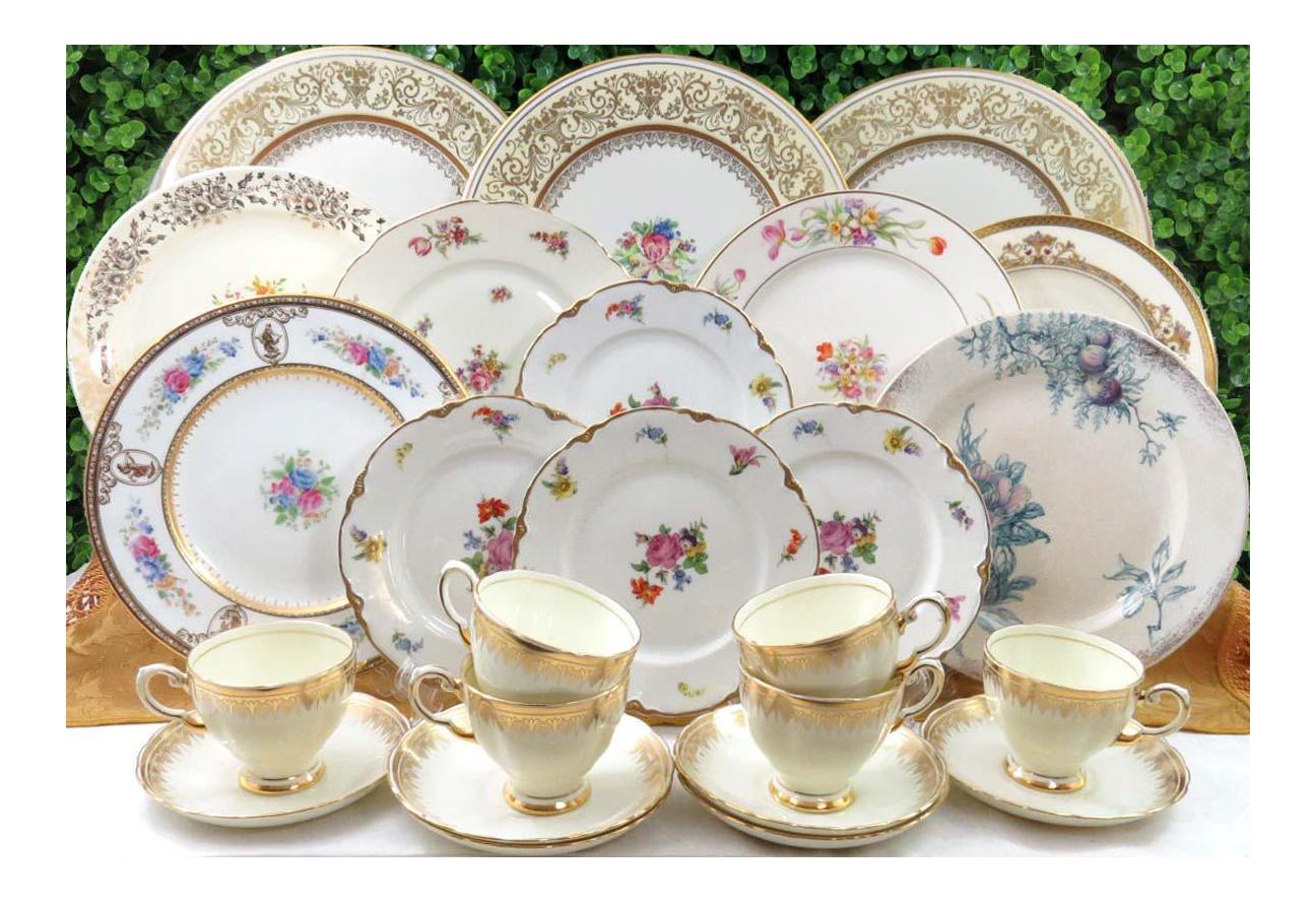Vintage Mismatched China Dinnerware Set Service for 6 (24 Pieces)  sc 1 st  Chairish & Vintage Mismatched China Dinnerware Set Service for 6 (24 Pieces ...
