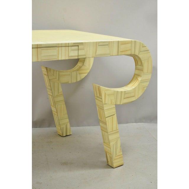 Allesandro Baker Karl Springer Style Cream Console Table For Sale In Philadelphia - Image 6 of 13
