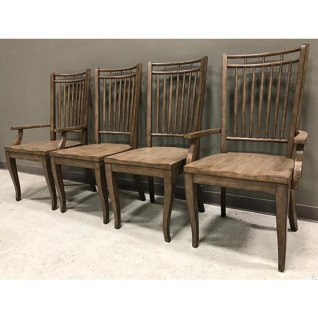 Very simple chairs with an incredible sleek look! Every spindle is in perfect condition and has no issues whatsoever. The...
