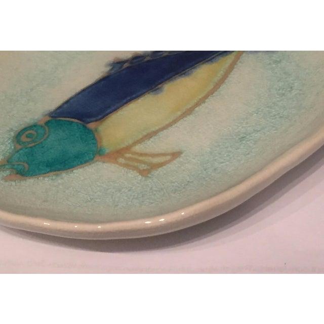 Mid-Century Modern Handmade Ceramic Fish Decorative Dish - Image 4 of 5