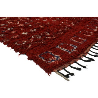 Mid-Century Modern Style Berber Moroccan Rug with Diamonds Preview
