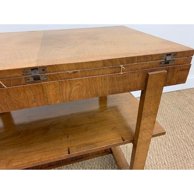 American Deco Side Table With Pivoting Fold-Out Top For Sale - Image 9 of 10