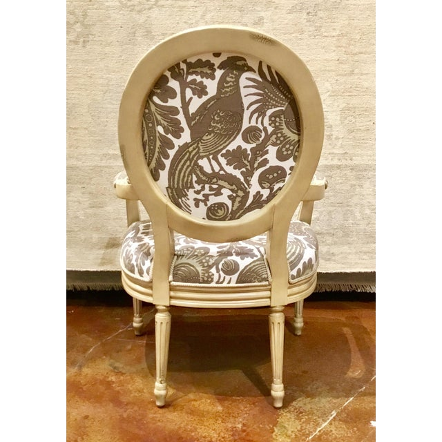 2010s Modern Port 68 French Style Taupe & Ivory Avery Chairs Pair For Sale - Image 5 of 8