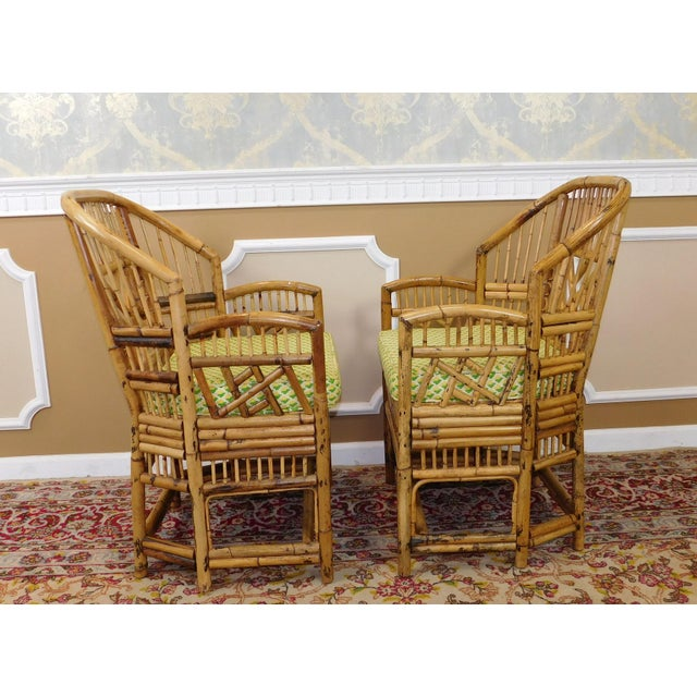 Brighton Style Chippendale Hollywood Regency Bamboo Armchairs- A Pair - Image 8 of 10