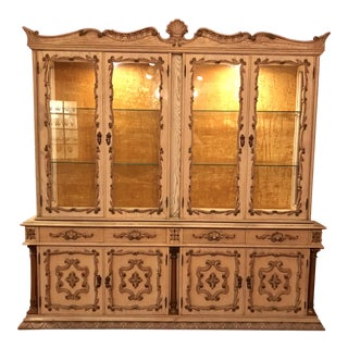 20th Century Italian Rococo Fairytale Style Dining Display Breakfront Cabinet For Sale