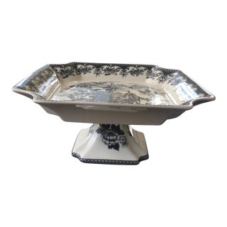 Toile Ceramic Pedestal Dish