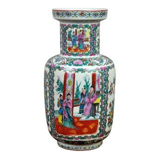 Vintage Satsuma Porcelain Hand-Painted Stamped Vase For Sale