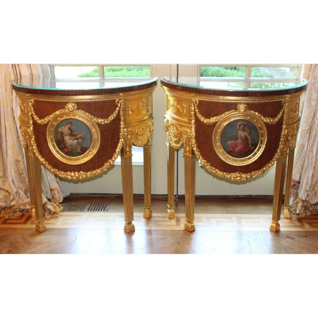 1920s Louis XVI Style Consoles - a Pair For Sale In Philadelphia - Image 6 of 6